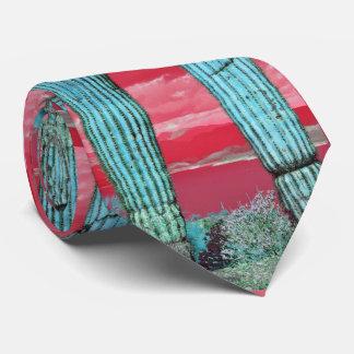 Saguaro Pillar - Red Sky & Turquoise Neck Tie
