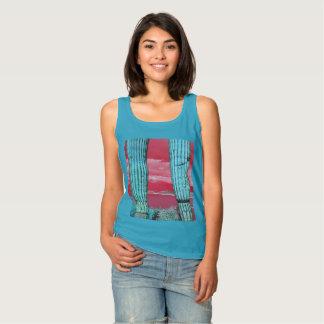 Saguaro Pillars Red & Turquoise Women's Tank