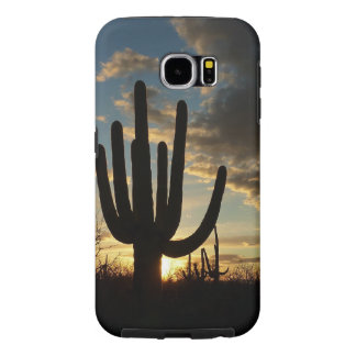 Saguaro Sunset II Arizona Desert Landscape Samsung Galaxy S6 Cases