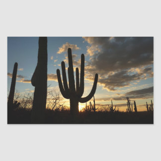 Saguaro Sunset II Arizona Desert Landscape Sticker