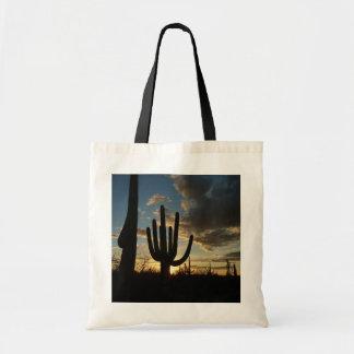 Saguaro Sunset II Arizona Desert Landscape Tote Bag