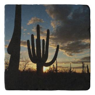 Saguaro Sunset II Arizona Desert Landscape Trivet