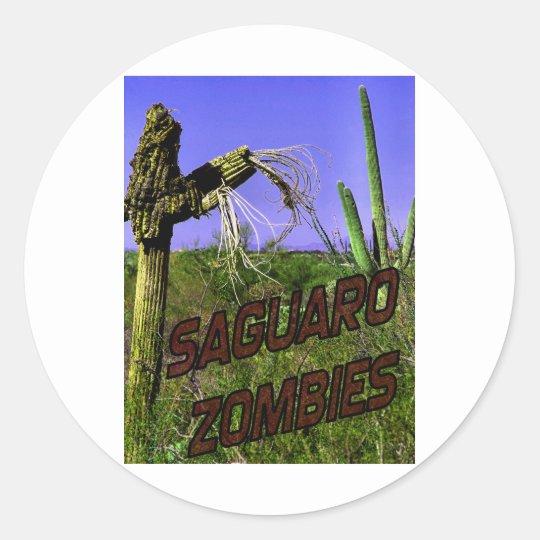 Saguaro Zombies Zombie 2 Round Sticker
