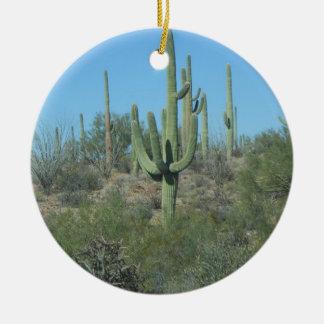 Saguaros Ceramic Ornament