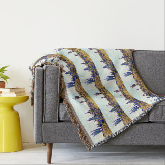 Saguaros on a Hill Throw Blanket