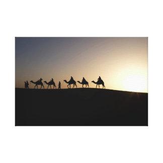 Sahara Camel Caravan Canvas Print
