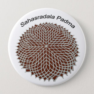 Sahasradala - The Crown Chakra 4 Inch Round Button