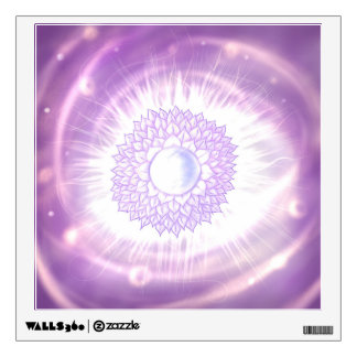 Sahasrara. Circular Chakra of the crown Wall Decal