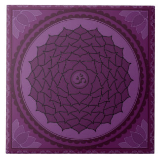 Sahasrara or Crown Chakra Large Square Tile