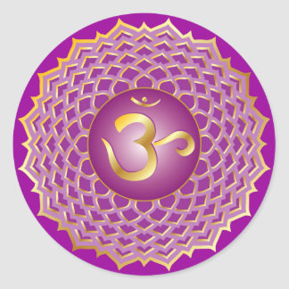 Sahasrara or crown chakra Sticker