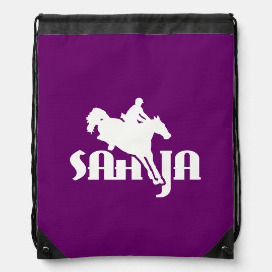 SAHJA logo helmet bag Drawstring Backpacks