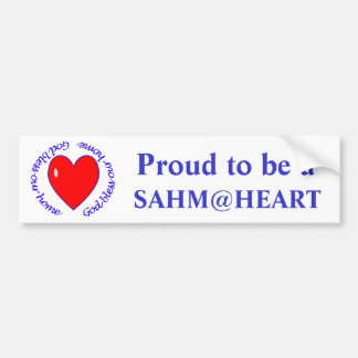 sahm@heart - Dieu bénissent notre adhésif pour par Autocollant De Voiture