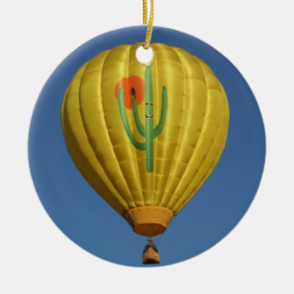 Sahuaro Sunrise Balloon Ceramic Ornament
