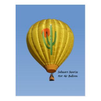 Sahuaro Sunrise Hot Air Balloon Postcard