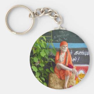 Sai Baba at the Auto Stand Keychain