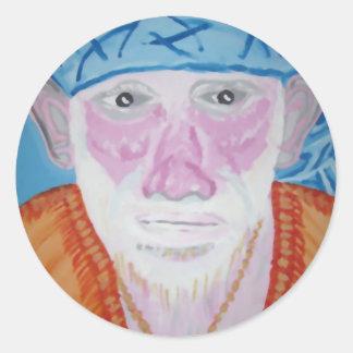 SAI BABA of Sirdi Monk Master Guru Yogi Blessing Round Sticker