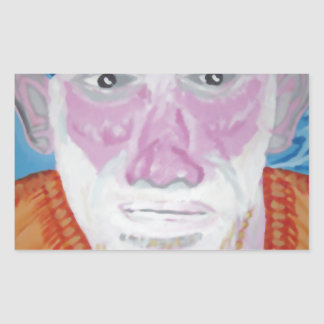 SAI BABA of Sirdi Monk Master Guru Yogi Blessing Rectangular Sticker
