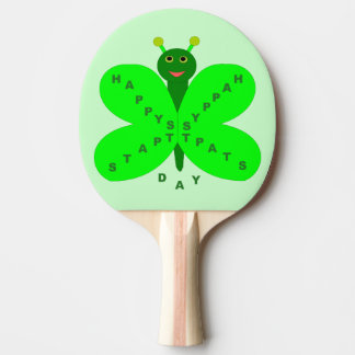 Saibt Patrick's Day Butterfly Ping Pong Paddle