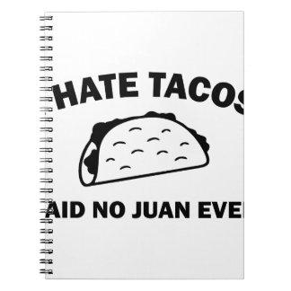 Said No Juan Ever Spiral Notebook