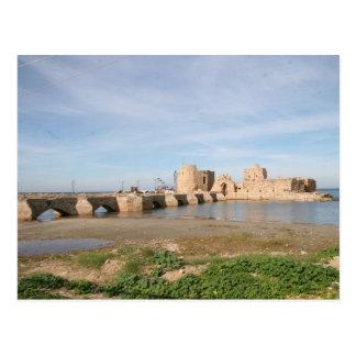 Saida Sea Castle Postcard