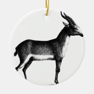 Saiga Antelope Ceramic Ornament