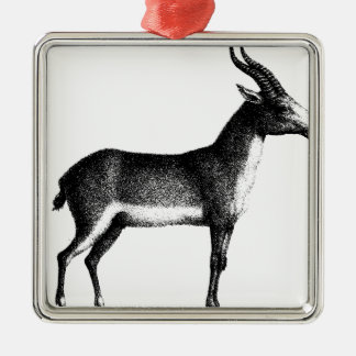 Saiga Antelope Metal Ornament