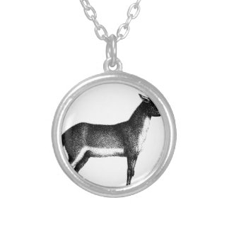Saiga Antelope Silver Plated Necklace