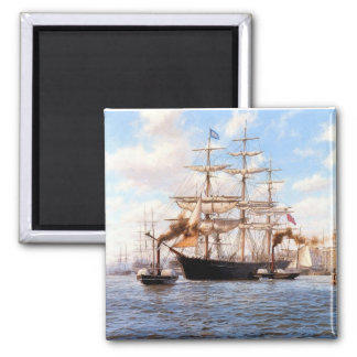 Sail and steam in port magnet