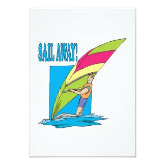 "Sail Away 2 5"" X 7"" Invitation Card"