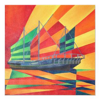 "Sail Away 5.25"" Square Invitation Card"