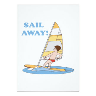 "Sail Away 5"" X 7"" Invitation Card"