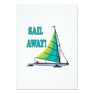 "Sail Away 5"" X 7"" Invitation Card"