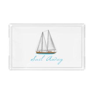 Sail Away Acrylic Tray