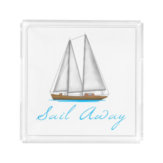 Sail Away Acrylic Tray