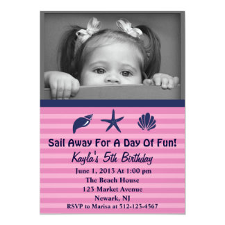 Sail Away Beach Party Invitation