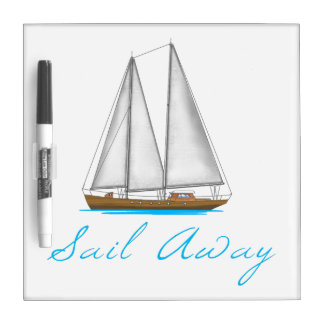 Sail Away Dry Erase Board