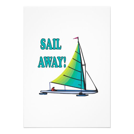 Sail Away Custom Invite