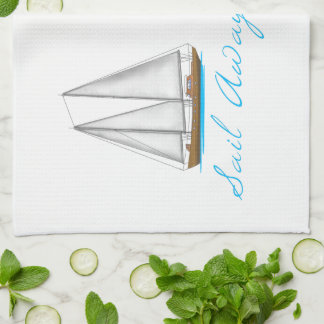 Sail Away Kitchen Towel