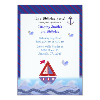 Sail Away On The Waves Card