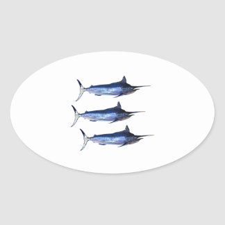Sail Away Oval Sticker