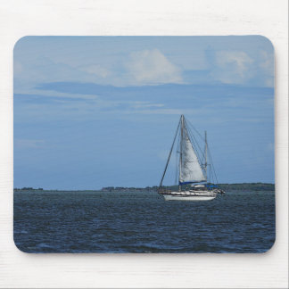 Sail Away Painterly Mouse Pad