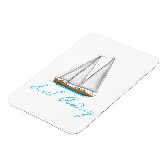 Sail Away Rectangular Photo Magnet