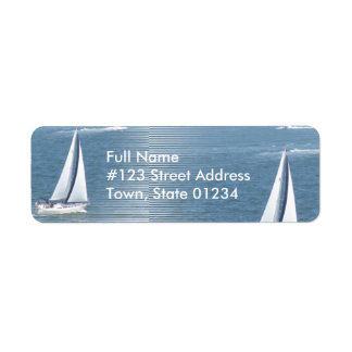 Sail Away Return Address Label