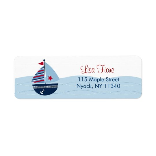Sail Away Sailboat Baby Shower Address Labels
