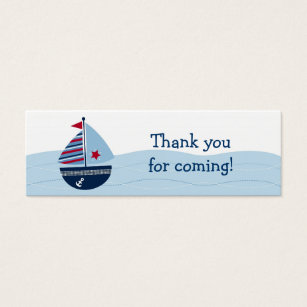 Nautical star business cards business card printing zazzle ca sail away sailboat baby shower favour gift tags reheart Choice Image