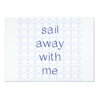 "Sail Away With Me 5"" X 7"" Invitation Card"