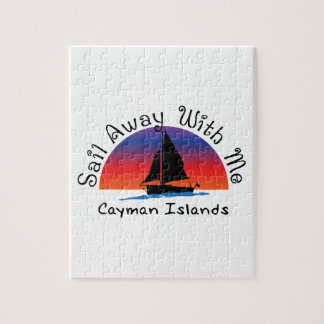 Sail away with me Cayman Islands. Jigsaw Puzzle