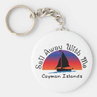 Sail away with me Cayman Islands. Keychain