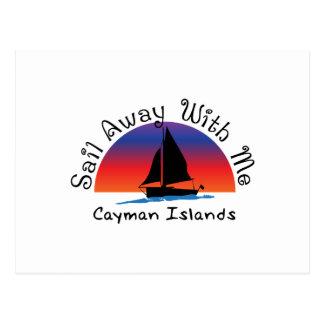 Sail away with me Cayman Islands. Postcard