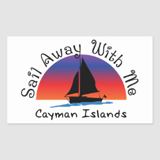 Sail away with me Cayman Islands. Sticker